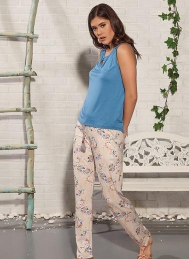 Gizzey Pijama Takım Mavi